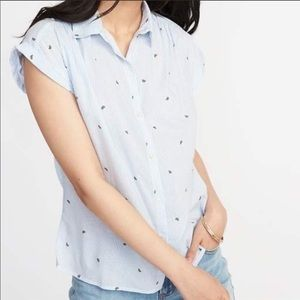 NEW Old Navy Watermelon Button Front Top